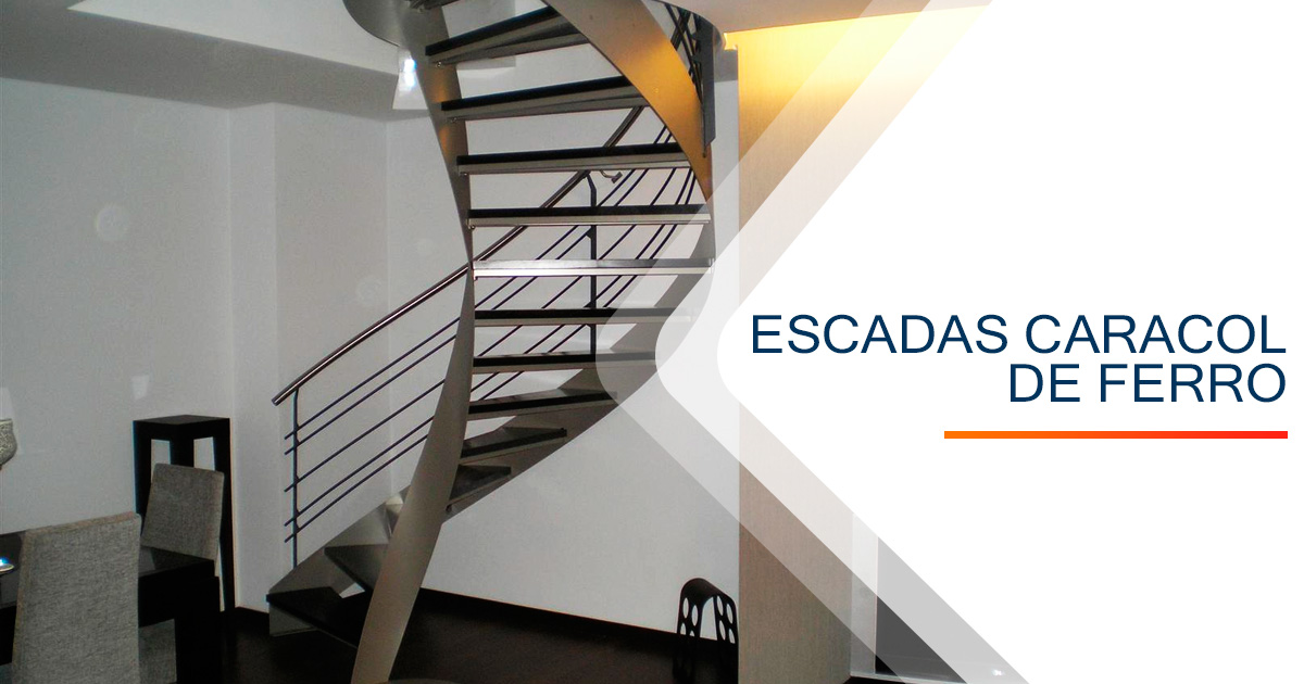 Escadas Caracol Ferro